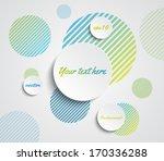 vector paper banners over... | Shutterstock .eps vector #170336288