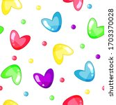 seamless pattern with sweet... | Shutterstock .eps vector #1703370028
