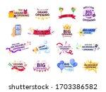 grand opening set label... | Shutterstock .eps vector #1703386582