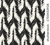 monochrome brushed textured... | Shutterstock .eps vector #1703433928
