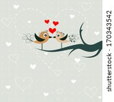 template greeting card  vector... | Shutterstock .eps vector #170343542