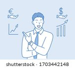 successful business man or... | Shutterstock .eps vector #1703442148