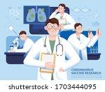 hard working scientists looking ... | Shutterstock .eps vector #1703444095