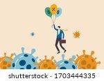 coronavirus crisis  covid 19... | Shutterstock .eps vector #1703444335