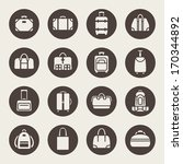 baggage icon set | Shutterstock .eps vector #170344892