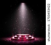podium with lighting. scene for ...   Shutterstock .eps vector #1703453422