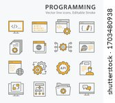 programming icons  such as... | Shutterstock .eps vector #1703480938