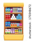 shelfs with household chemicals.... | Shutterstock .eps vector #170348672