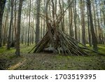 A Primitive Shelter Made Of...