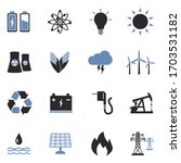 energy icons. two tone flat...   Shutterstock .eps vector #1703531182
