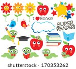 little bookworm | Shutterstock .eps vector #170353262