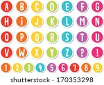 rainbow colored alphabet... | Shutterstock .eps vector #170353298