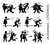 woman female girl self defense... | Shutterstock . vector #170354642