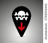 black icon deaths from the... | Shutterstock .eps vector #1703553442