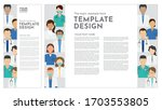group of medical staff in... | Shutterstock .eps vector #1703553805