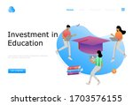 investment in knowledge vector... | Shutterstock .eps vector #1703576155