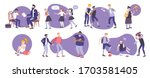 bullying set of isolated flat... | Shutterstock .eps vector #1703581405