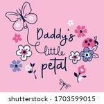 daddy little petal   butterfly  ... | Shutterstock .eps vector #1703599015