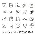 checkmark outline icon set for...