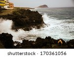 Strong Waves Crashing On The...