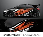 rally car decal graphic wrap...   Shutterstock .eps vector #1703620078