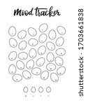 a4 print mood tracker for april.... | Shutterstock .eps vector #1703661838