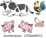 Farm Animals  Cows Are Lying O...