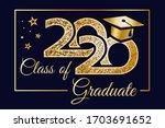 class graduation banner 2020.... | Shutterstock .eps vector #1703691652