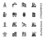 oil industry vector icons set ... | Shutterstock .eps vector #1703698915
