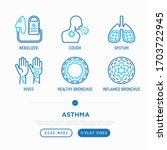 asthma thin line icons set ...   Shutterstock .eps vector #1703722945