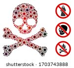 collage death composed of... | Shutterstock .eps vector #1703743888