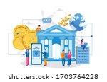 online banking. vector...   Shutterstock .eps vector #1703764228