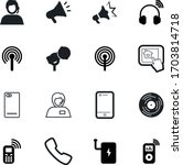 phone vector icon set such as ... | Shutterstock .eps vector #1703814718