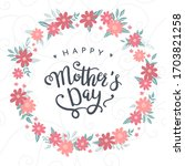 cute hand drawn mother's day...   Shutterstock .eps vector #1703821258