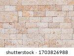 Gray Travertine Block Wall...