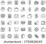 editable thin line isolated... | Shutterstock .eps vector #1703828245