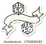 worn old sticker with banner of ...   Shutterstock .eps vector #1703830282