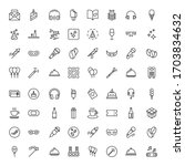 holidays line icon set.... | Shutterstock .eps vector #1703834632