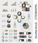infographics elements. folder... | Shutterstock .eps vector #170384096