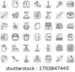editable thin line isolated... | Shutterstock .eps vector #1703847445
