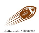 american football or rugby ball ... | Shutterstock .eps vector #170389982