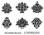 black silhouetted floral and...   Shutterstock .eps vector #170390255