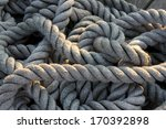 Worn Out Rope And Tangled On A...