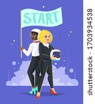 Two Young Businesswoman In...
