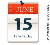 vector calendar of fathers day  ... | Shutterstock .eps vector #170394302