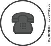 phone dark colored vector icon