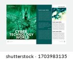 printing magazine with 3d... | Shutterstock .eps vector #1703983135