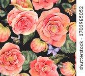 watercolor vintage summer... | Shutterstock . vector #1703985052