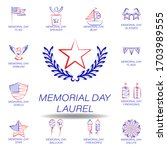 memorial day laurel colored...