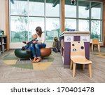 elementary student with teacher ... | Shutterstock . vector #170401478